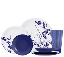 ThermoServ 16-pc Floral Melamine Dinnerware & Tumbler Set - H295126