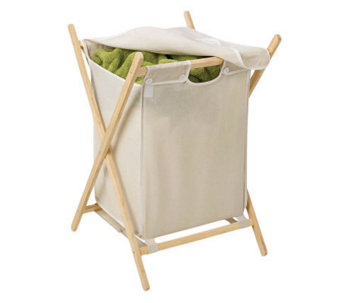Honey-Can-Do Folding Wooden Hamper - H356426