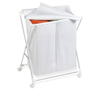 Honey-Can-Do Steel Folding Double Hamper - H356526