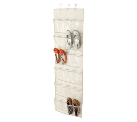 Honey-Can-Do 24-Pocket Over-the-Door Organizer- White