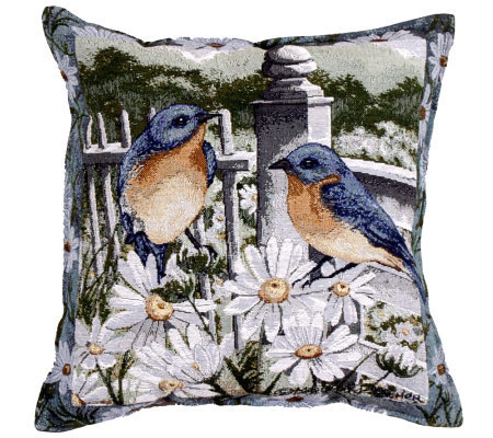 Bluebird Summer Pillow
