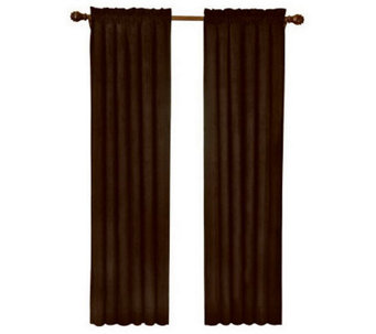 "Eclipse 42"" x 63"" Sueded Blackout Window Curtain Panel - H367526"