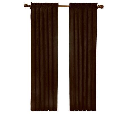 "Eclipse 42"" x 63"" Sueded Blackout Window Curtain Panel"