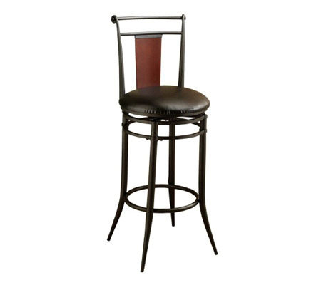 Hillsdale House Midtown Swivel Wood Back Bar Stool