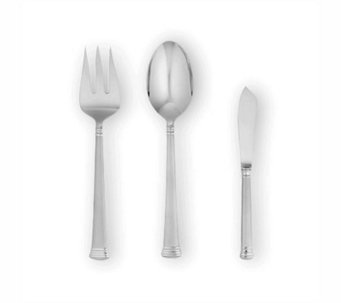 Lenox Eternal Frosted Flatware 3-Piece ServingSet - H138827
