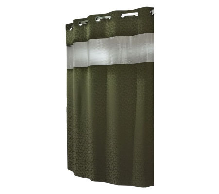 Hookless Commercial Grade Shower Curtain W Liner Window Page 1
