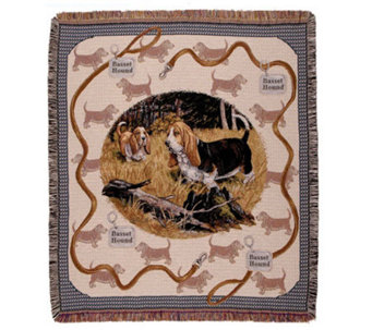 Bassett Hound Throw by Simply Home - H188027