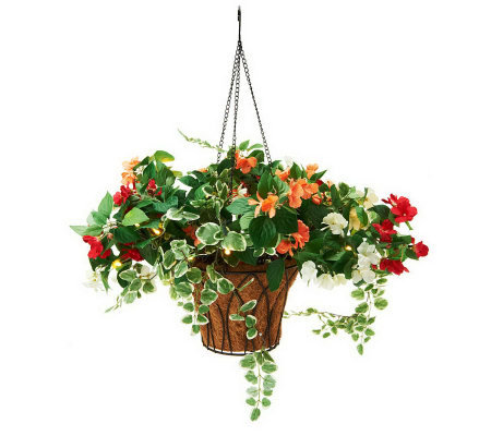 Bethlehem Lights Battery Op. Impatiens Hanging Basket