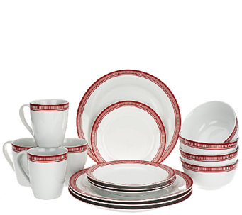 Emeril Bistro 16-Piece Porcelain Dinnerware Set by Gorham - H204327
