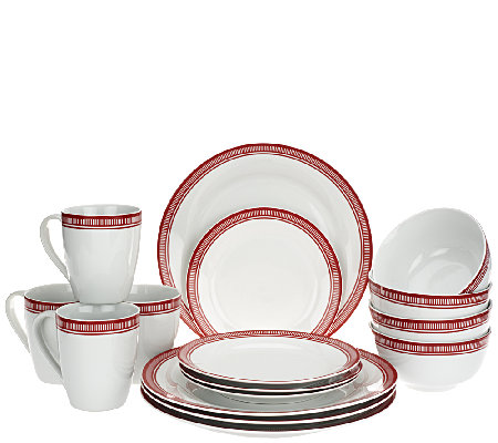 Emeril Bistro 16-Piece Porcelain Dinnerware Set by Gorham