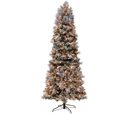 Kringle Express Flocked 9' Winter Slim Christmas Tree ...