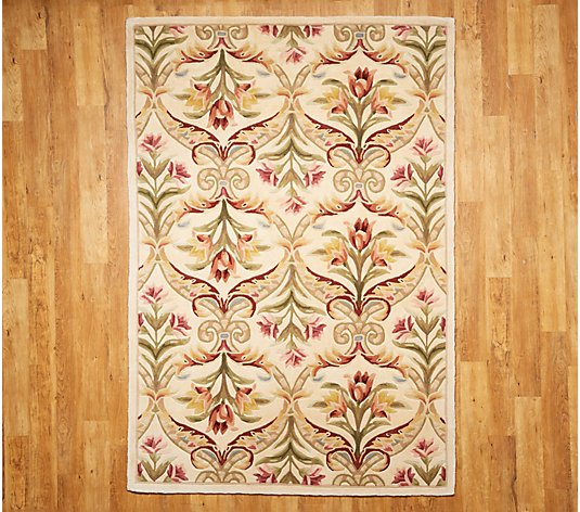 Royal Palace 6 X 9 Wool Floral Panel Area Rug Qvc Com
