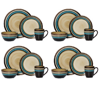 Mikasa Gourmet Basics Spector Blue 16-pc Dinnerware Set - H283927