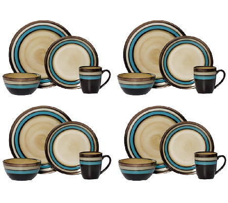 Mikasa Gourmet Basics Spector Blue 16-pc Dinnerware Set