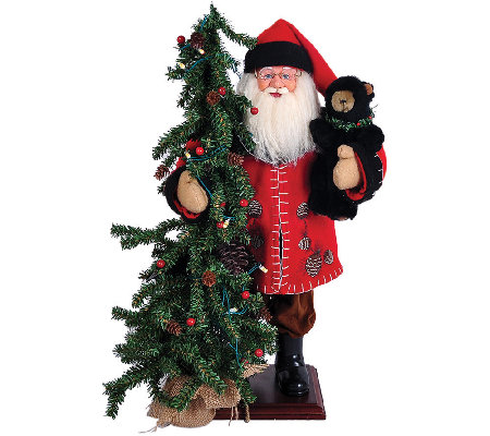 "20"" Pine Cone Santa and Tree by Santa's Workshop"