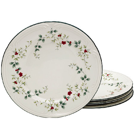 Pfaltzgraff Winterberry Dinner Plates, Set of 4