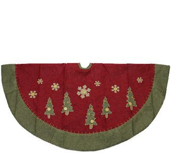 "48"" Tree Skirt with Snowflake and Trees by Northlight - H287727"