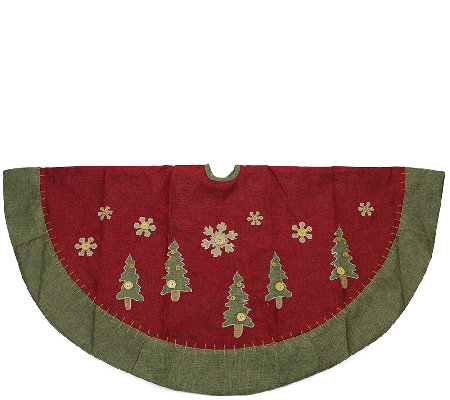 "48"" Tree Skirt with Snowflake and Trees by Northlight"