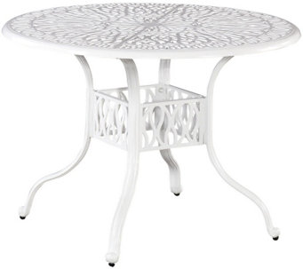 "Home Styles Floral Blossom White 42"" Round Dining Table - H288627"
