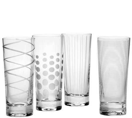 Mikasa Set of 4 Highball Glasses - Cheers Collection