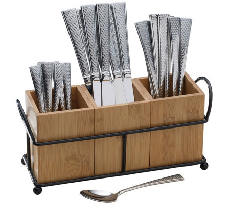 Gourmet Basics by Mikasa Danbury 24-pc FlatwareSet with Caddy