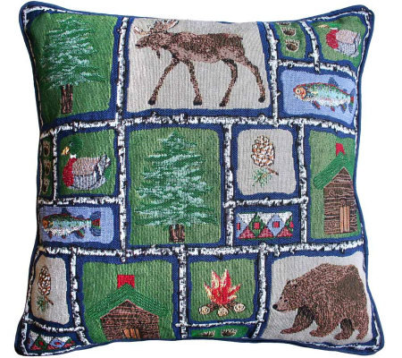 Qvc Decorative Pillows : Lodge Sampler 18