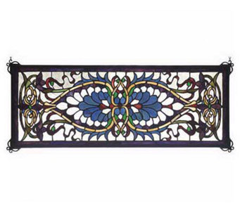 Tiffany Style Antoinette Transom Window Panel - H131428