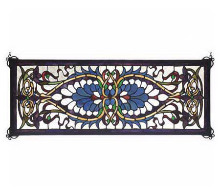 Tiffany Style Antoinette Transom Window Panel