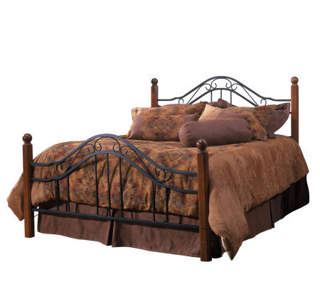 Hillsdale House Madison King Bed - Cherry Finish/Black