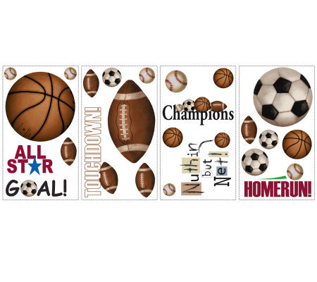 RoomMates Play Ball Peel & Stick Wall Decals