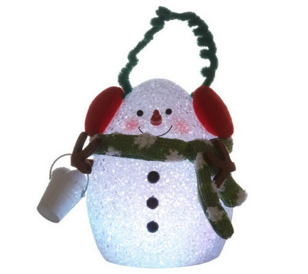 "BethlehemLights BatteryOperated 6"" Egg Snowman with Timer"