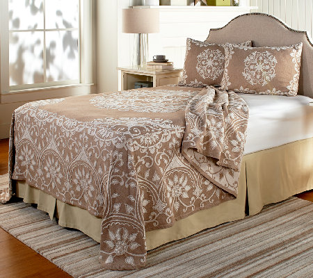 Opulence Jacquard 100% Cotton Bedspread with Sham(s)