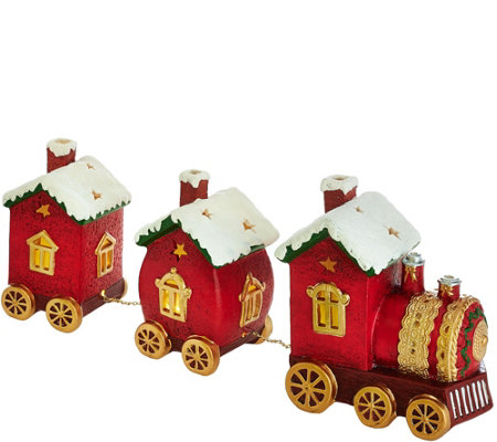 Kringle Express Porcelain Decorative Train Set Luminary