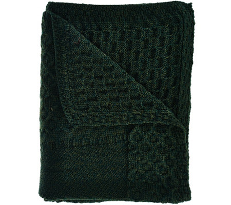 Kilronan Merino Wool Holiday Throw Blanket