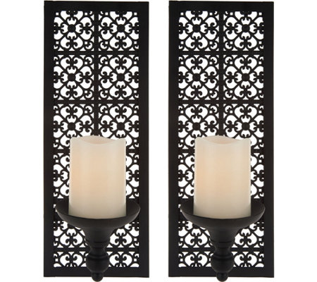 Set of 2 Sconces with Flameless Candles by Home Reflections