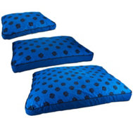 MyPillow Reversible Plaid to Paw Print Pet Bed