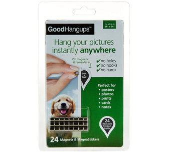 GoodHangups S/24 Magnetic Reusable Hanging System by Lori Greiner - H212428