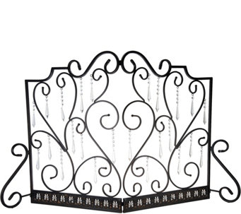 antique bronze fireplace screen with 24 faceted prisms by valerie h212528