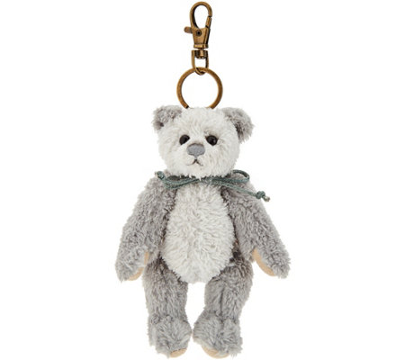 "Charlie Bears Collectible Grey 5"" Plush Keyring Bear"