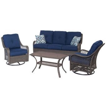 Hanover Outdoor Orleans 4-Piece All-Weather Patio Set - H288928
