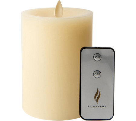 "Luminara 5"" Sunken Top Flameless Candle withRemote"