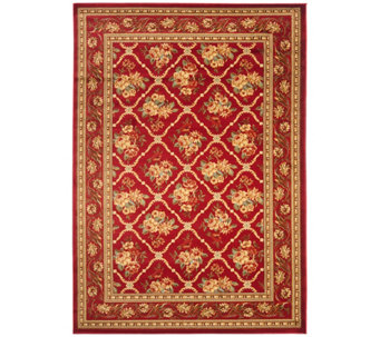 "Lyndhurst Floral Lattice Power Loomed 5'3"" x 7'6"" Rug - H356828"
