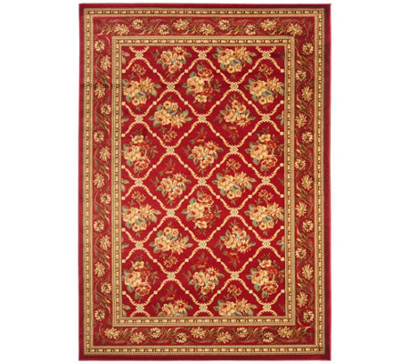 "Lyndhurst Floral Lattice Power Loomed 5'3"" x 7'6"" Rug"