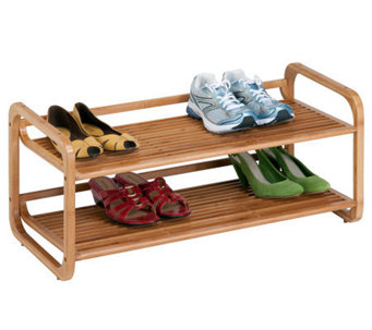 Honey-Can-Do 2-Tier Stackable Bamboo Shoe Shelf - H367428