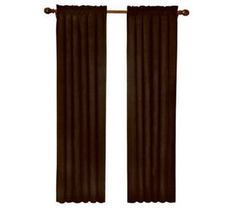 "Eclipse 42"" x 84"" Sueded Blackout Window Curtain Panel - H367528"