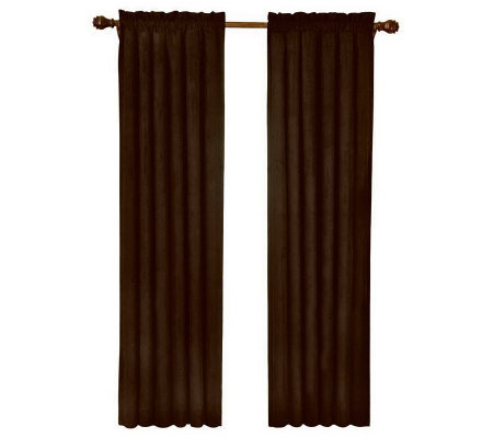 "Eclipse 42"" x 84"" Sueded Blackout Window Curtain Panel"