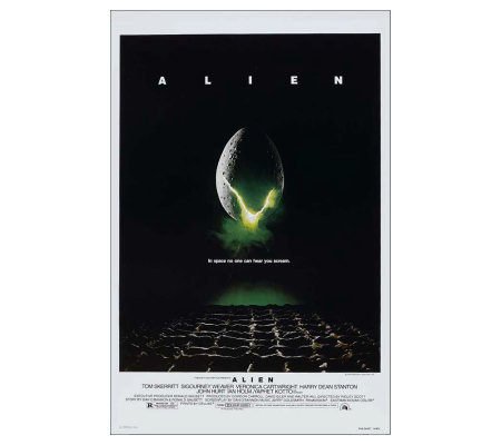 "11"" x 17"" Alien Movie Poster - 1979"