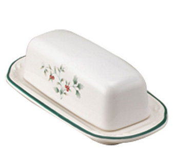 Pfaltzgraff Winterberry Covered Butter Dish - H184429