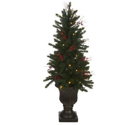 Bethlehem Lights Outdoor Safe 4' Tree in Urn w/50 LED Lights