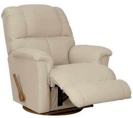 La-Z-Boy Classic Swivel Micro Denier Fabric Recliner w/Memory Foam